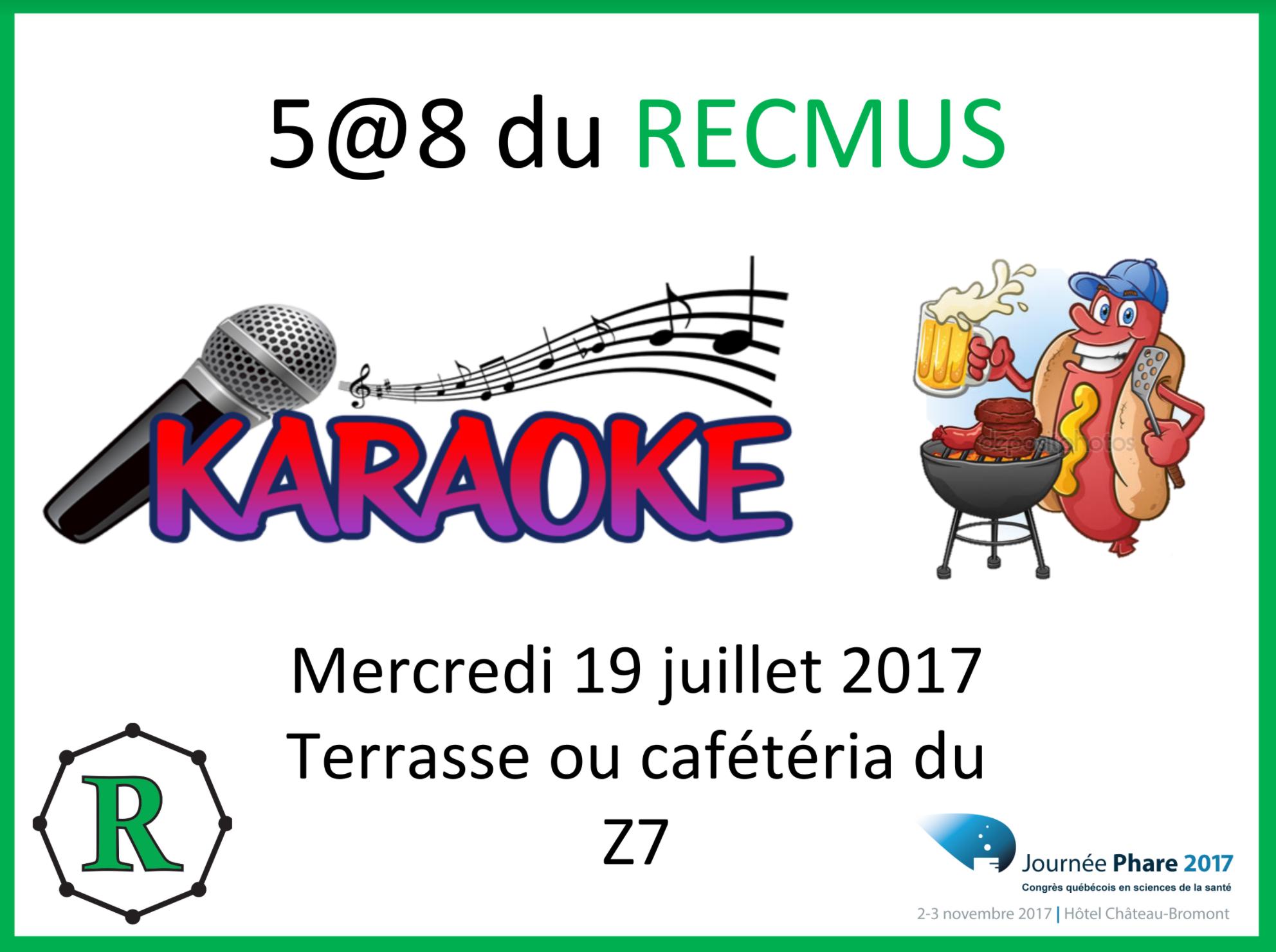 Affiche 5@8 Karaoke